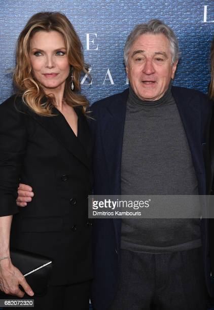 Michelle Pfeiffer and Executive Producer Robert De Niro attend the 'The Wizard Of Lies' New York Premiere at The Museum of Modern Art on May 11 2017...