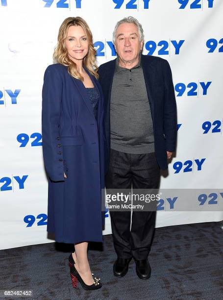 Michelle Pfeiffer and Robert De Niro attend The Hollywood Reporter TV Talks And 92Y Present HBO Films' 'The Wizard Of Lies' at 92nd Street Y on May...