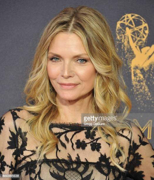 Michelle Pfeiffer arrives at the 69th Annual Primetime Emmy Awards at Microsoft Theater on September 17 2017 in Los Angeles California