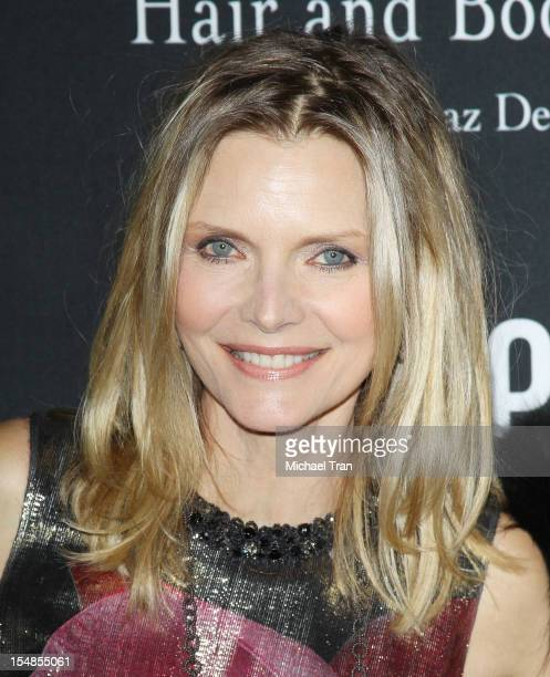 Michelle Pfeiffer arrives at the 8th Annual Pink Party held at Hangar 8 on October 27 2012 in Santa Monica California