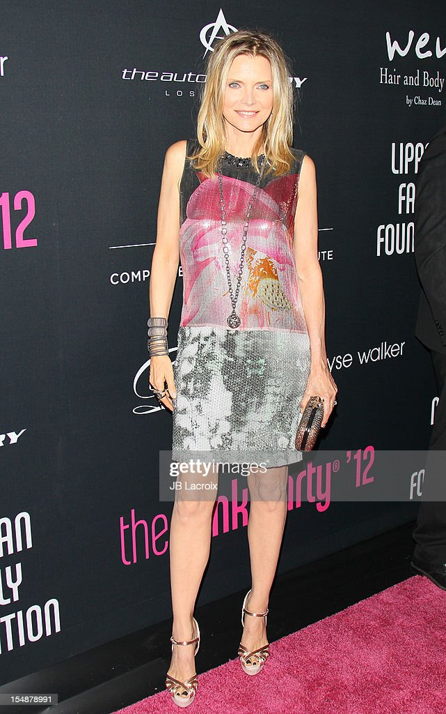 <a gi-track='captionPersonalityLinkClicked' href=/galleries/search?phrase=Michelle+Pfeiffer&family=editorial&specificpeople=212951 ng-click='$event.stopPropagation()'>Michelle Pfeiffer</a> attends the 8th Annual Pink Party at Barkar Hangar on October 27, 2012 in Santa Monica, California.