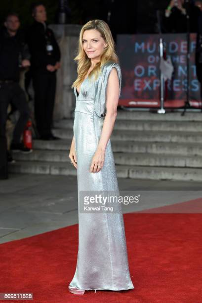 Michelle Pfeiffer attends the 'Murder On The Orient Express' World Premiere at Royal Albert Hall on November 2 2017 in London England