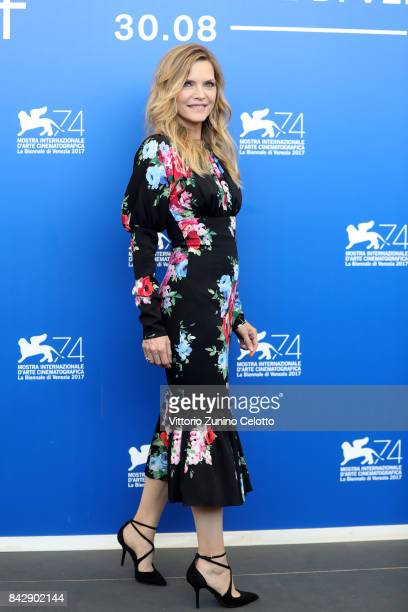 """Michelle Pfeiffer attends the press conference and photo call for """"mother"""" during the 74th Venice Film Festival at Casino Palace on September 5 2017..."""