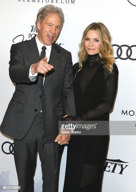 Michelle Pfeiffer David E Kelley arrives at the Variety's Power Of Women Los Angeles at the Beverly Wilshire Four Seasons Hotel on October 13 2017 in...