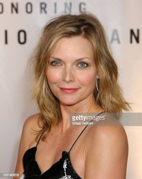 Michelle Pfeiffer during Giorgio Armani Receives First 'Rodeo Drive Walk Of Style' Award at Rodeo Drive in Beverly Hills California United States