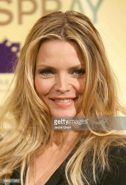 Michelle Pfeiffer during ShoWest 2007 New Line 'Hairspray' Presentation Photocall at Paris Hotel and Casino in Las Vegas Nevada United States