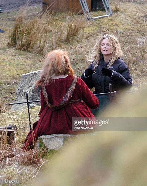 Michelle Pfeiffer on the set of the new Movie 'Stardust' filmed on the Isle of Skye Exclusive