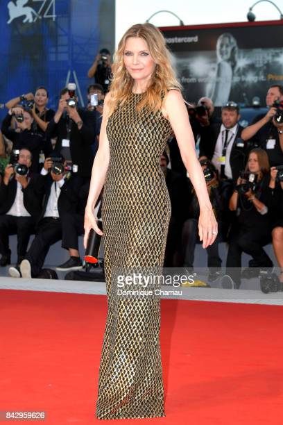 Michelle Pfeiffer walks the red carpet ahead of the 'mother' screening during the 74th Venice Film Festival at Sala Grande on September 5 2017 in...