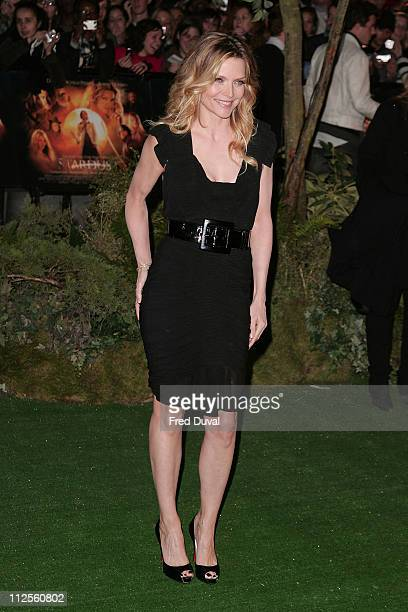 Michelle Pfeiffer wears Zac Posen while attending the 'Stardust' premiere October 3 2007 in London England