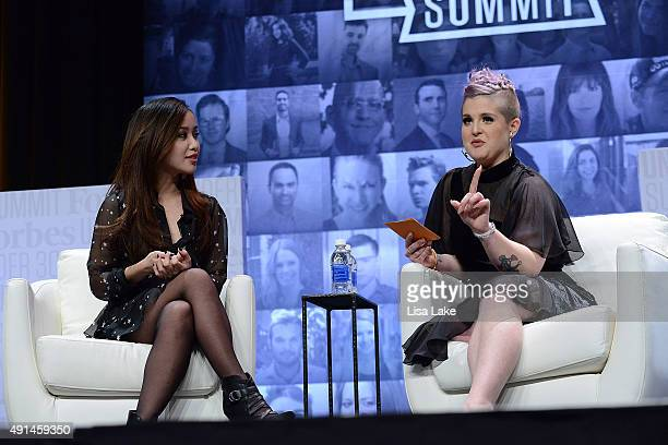 Michelle Phan YouTube Personality Founder of ipsy is interviewd by TV Personality Kelly Osbourne at Forbes Under 30 Summit at Pennsylvania Convention...