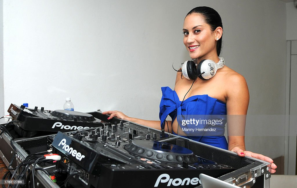 DJ Michelle Pooch attends the CIROC Amaretto Launch Event at Dream Hotel South Beach on August 27, 2013 in Miami, Florida.