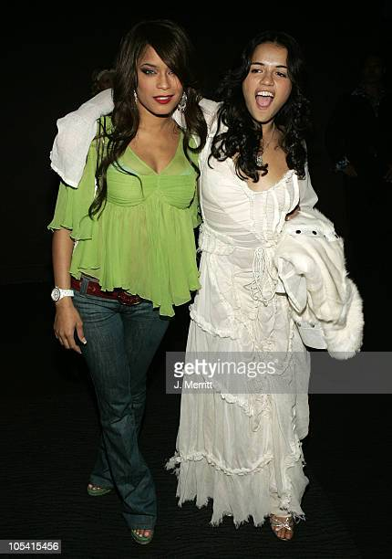 Michelle Rodriguez and Blu Cantrell during Michelle Rodriguez Hosts Fifi Collection and Deseo 23 Runway Fashion Show at Club Avalon in Hollywood CA...