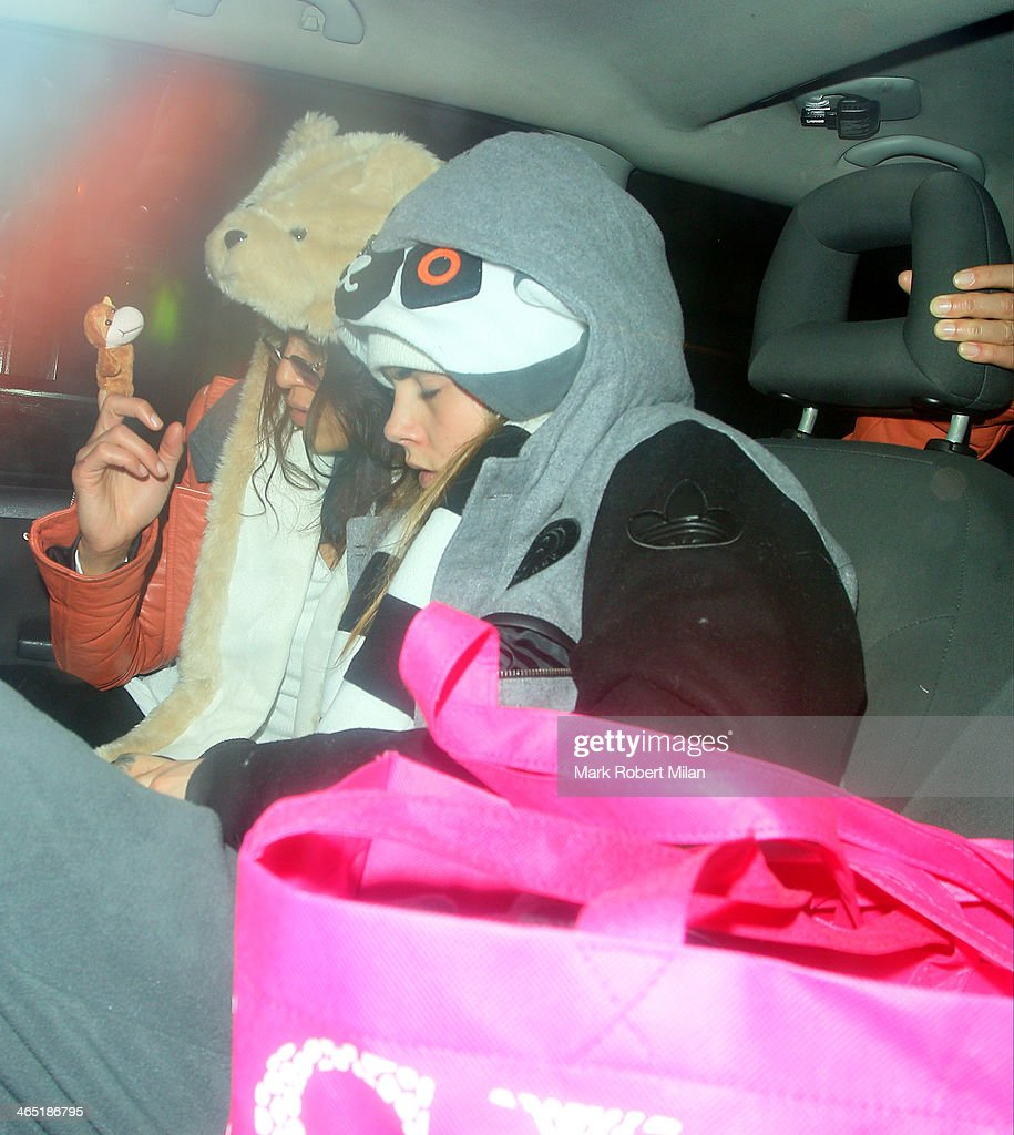 Michelle Rodriguez and Cara Delevingne at The Electric House for Chloe Delevingne's Hen party on January 25, 2014 in London, England.
