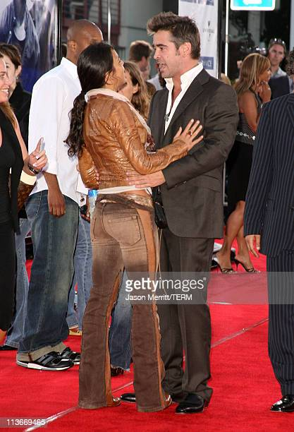 Michelle Rodriguez and Colin Farrell during 'Miami Vice' World Premiere Arrivals at Mann Village Westwood in Westwood California United States