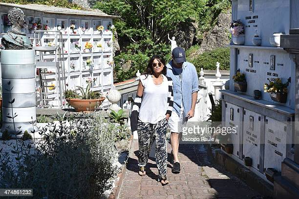 Michelle Rodriguez and Mohammed Al Turki are seen on May 27 2015 in Portofino
