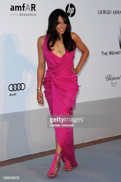 Michelle Rodriguez arrives at amfAR's Cinema Against AIDS 2010 benefit gala at the Hotel du Cap on May 20 2010 in Antibes France