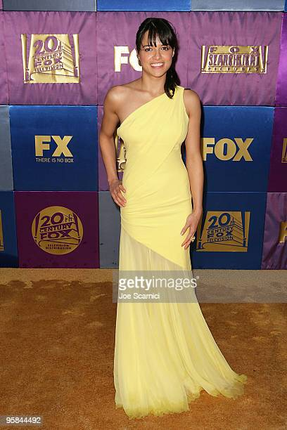 Michelle Rodriguez arrives at FOX Hosts 2010 Golden Globe Nominees Party at Craft on January 17 2010 in Century City California