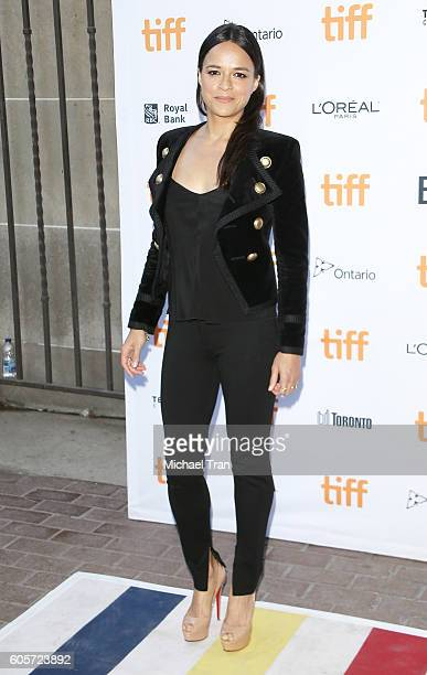 Michelle Rodriguez arrives at the 2016 Toronto International Film Festival ' ASSIGNMENT' premiere held at Ryerson Theatre on September 14 2016 in...