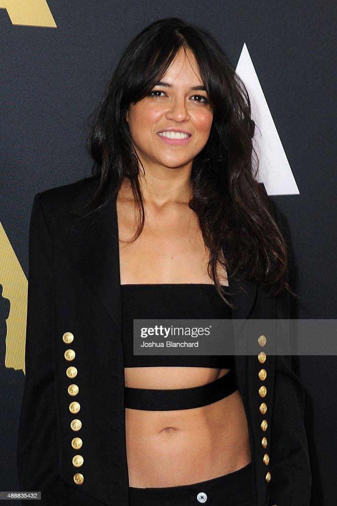 <a gi-track='captionPersonalityLinkClicked' href=/galleries/search?phrase=Michelle+Rodriguez&family=editorial&specificpeople=206182 ng-click='$event.stopPropagation()'>Michelle Rodriguez</a> arrives at the Academy of Motion Picture Arts and Sciences' 42nd Student Academy Awards on September 17, 2015 in Los Angeles, California.