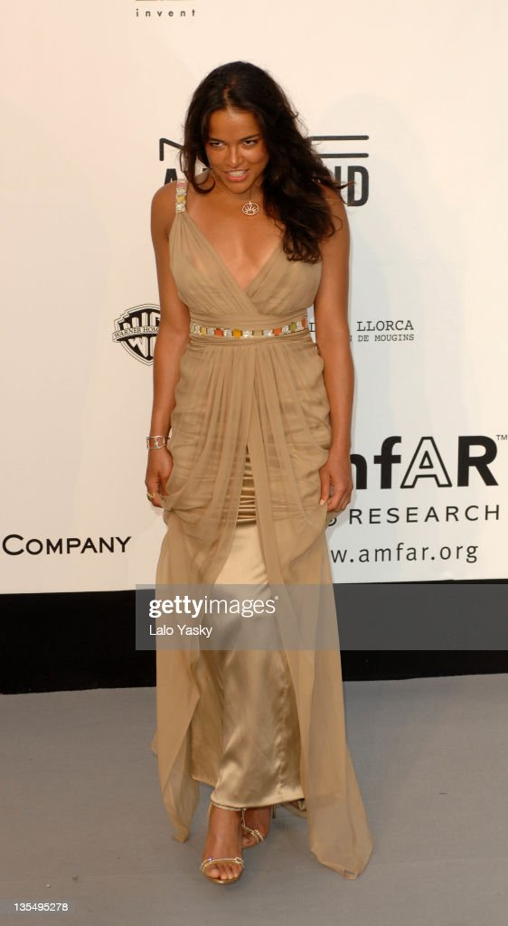 Michelle Rodriguez at amfAR's Cinema Against AIDS event, presented by Bold Films, the M•A•C AIDS Fund and The Weinstein Company to benefit amfAR
