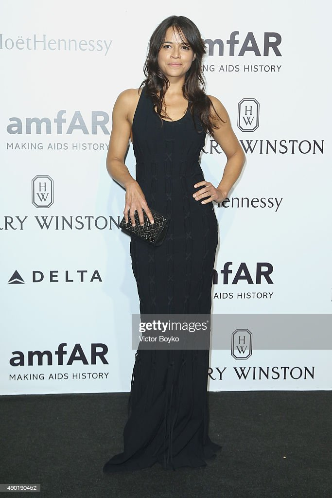 <a gi-track='captionPersonalityLinkClicked' href=/galleries/search?phrase=Michelle+Rodriguez&family=editorial&specificpeople=206182 ng-click='$event.stopPropagation()'>Michelle Rodriguez</a> attends amfAR Milano 2015 at La Permanente on September 26, 2015 in Milan, Italy.