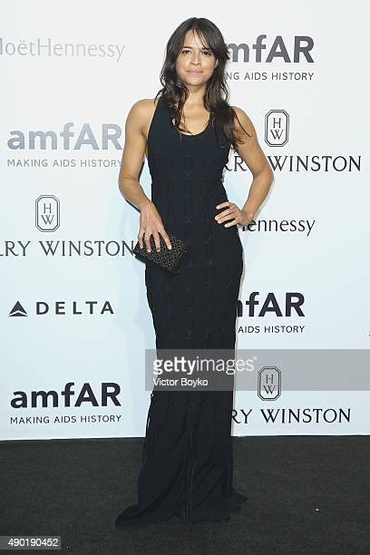 Michelle Rodriguez attends amfAR Milano 2015 at La Permanente on September 26 2015 in Milan Italy