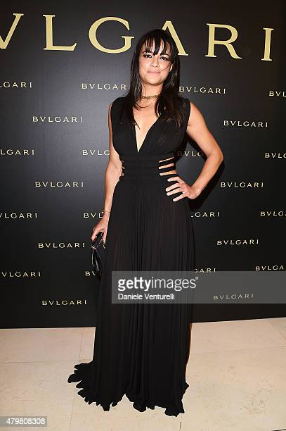 Michelle Rodriguez attends Bulgari Haute Couture Cocktail Party Model Show on July 7 2015 in Paris France