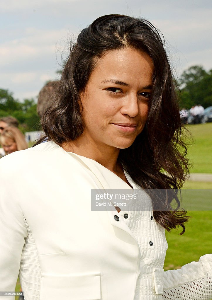 Michelle Rodriguez attends day two of the Audi Polo Challenge at Coworth Park Polo Club on June 1, 2014 in Ascot, England.