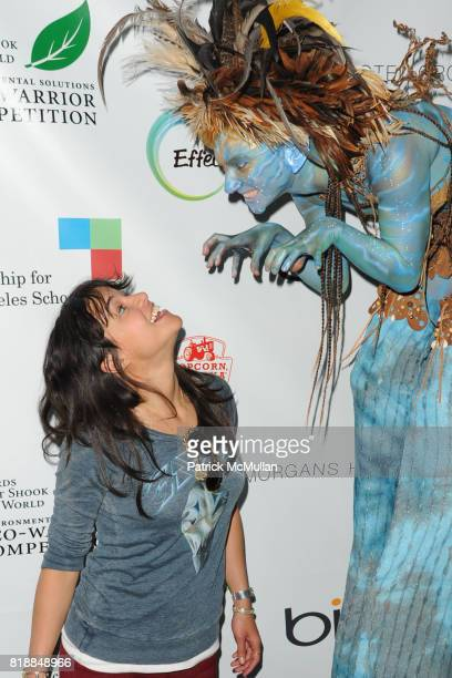 Michelle Rodriguez attends James Cameron and AVATAR Cast Celebrate Earth Day in Los Angeles at JW Marriot on April 22 2010 in Los Angeles California