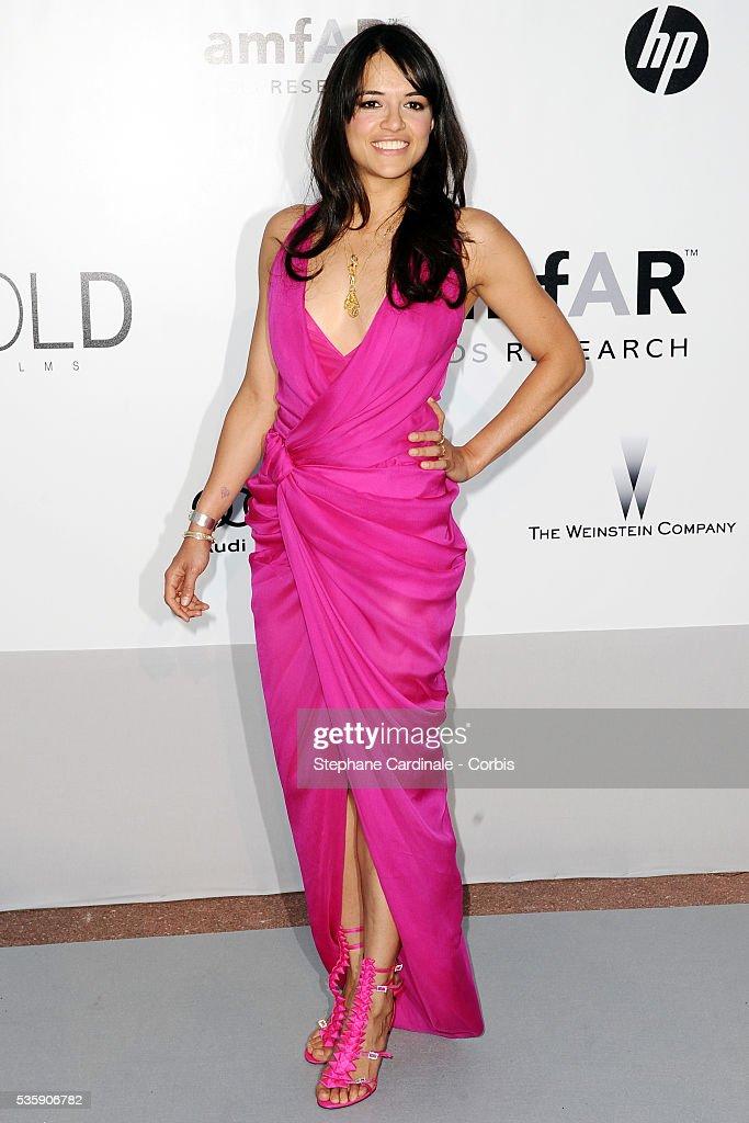 Michelle Rodriguez attends the '2010 amfAR's Cinema Against AIDS' Gala.