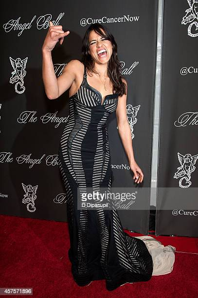 Michelle Rodriguez attends the 2014 Angel Ball at Cipriani Wall Street on October 20 2014 in New York City