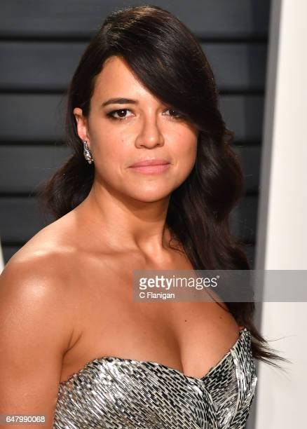 Michelle Rodriguez attends the 2017 Vanity Fair Oscar Party hosted by Graydon Carter at Wallis Annenberg Center for the Performing Arts on February...