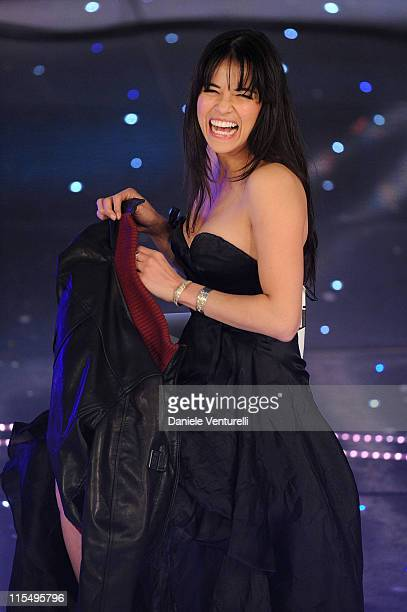 Michelle Rodriguez attends the 60th Sanremo Song Festival at the Ariston Theatre On February 17 2010 in San Remo Italy