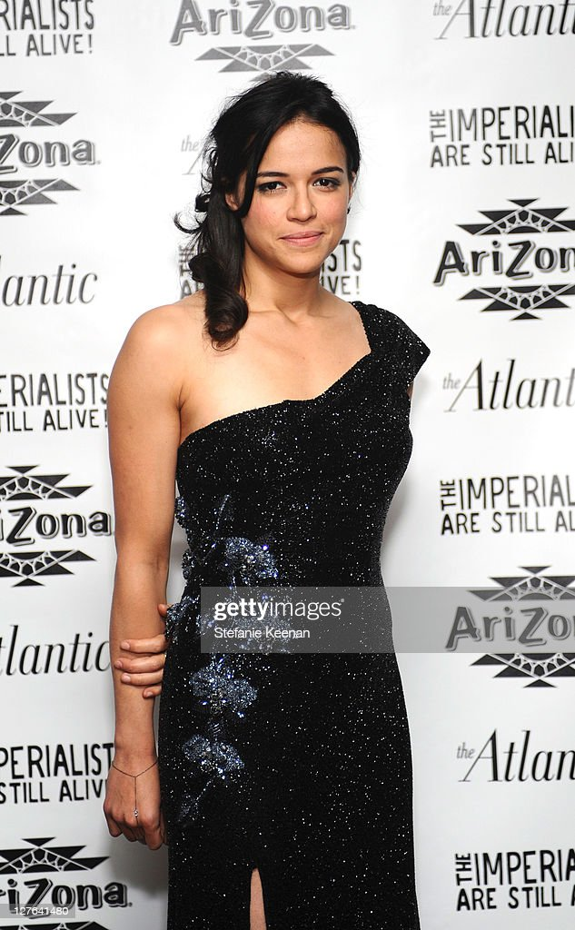 <a gi-track='captionPersonalityLinkClicked' href=/galleries/search?phrase=Michelle+Rodriguez&family=editorial&specificpeople=206182 ng-click='$event.stopPropagation()'>Michelle Rodriguez</a> attends The Atlantic Magazine And AriZona Beverages Los Angeles Premiere Of 'The Imperialists Are Still Alive!' at Soho House on April 19, 2011 in West Hollywood, California.