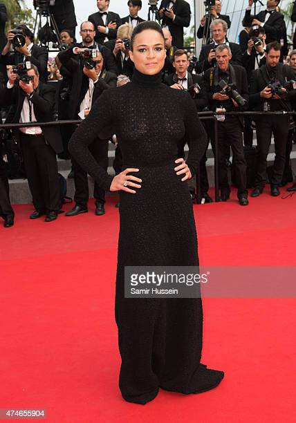 Michelle Rodriguez attends the closing ceremony and 'Le Glace Et Le Ciel' Premiere during the 68th annual Cannes Film Festival on May 24 2015 in...