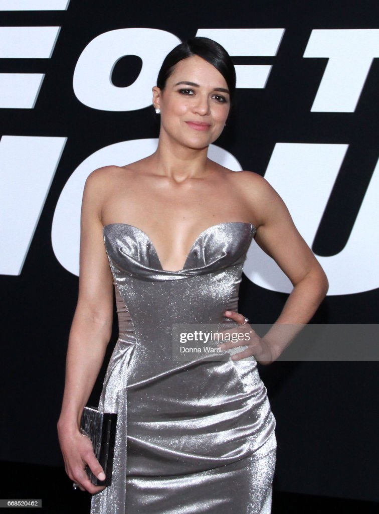 Michelle Rodriguez attends 'The Fate of The Furious' New York Premiere at Radio City Music Hall on April 8, 2017 in New York City.