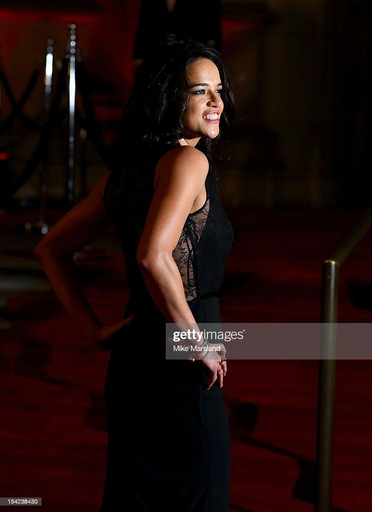 Michelle Rodriguez attends the Hollywood Costume gala dinner at Victoria & Albert Museum on October 16, 2012 in London, England.