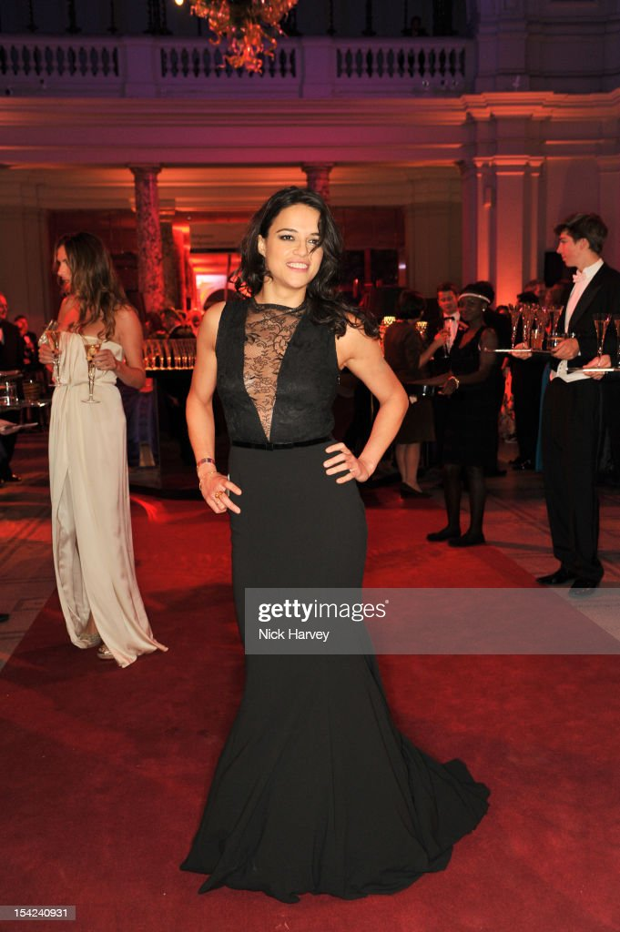 Michelle Rodriguez attends the Hollywood Costume gala dinner at the Victoria & Albert Museum on October 16, 2012 in London, England.