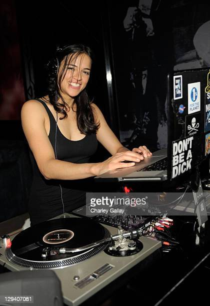 DJ Michelle Rodriguez attends 'The Imperialists Are Still Alive' after party held at Trousdale on April 19 2011 in West Hollywood California