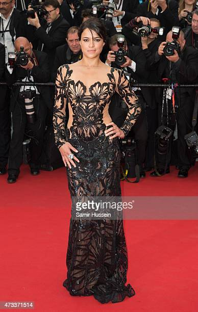 Michelle Rodriguez attends the 'Mad Max Fury Road' Premiere during the 68th annual Cannes Film Festival on May 14 2015 in Cannes France