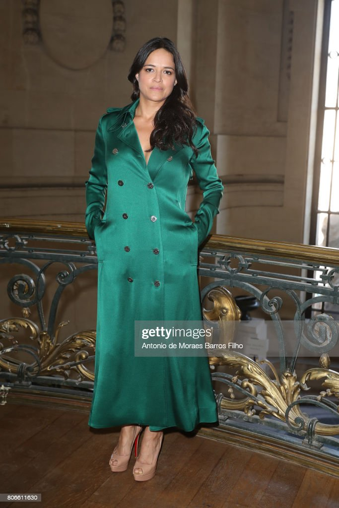 Michelle Rodriguez attends the Ralph & Russo Haute Couture Fall/Winter 2017-2018 show as part of Haute Couture Paris Fashion Week on July 3, 2017 in Paris, France.