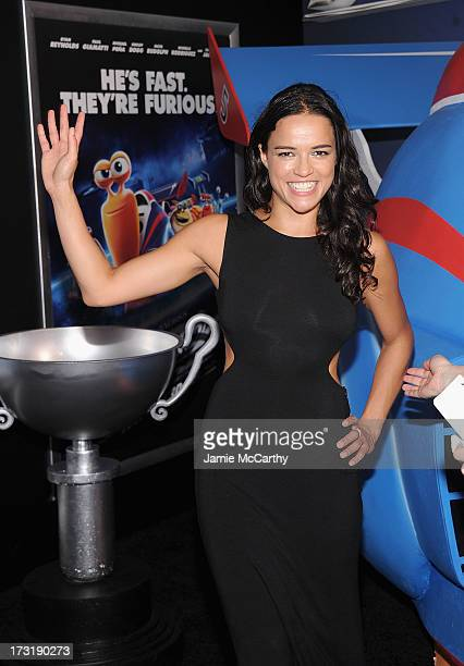 Michelle Rodriguez attends the 'Turbo' New York Premiere at AMC Loews Lincoln Square on July 9 2013 in New York City