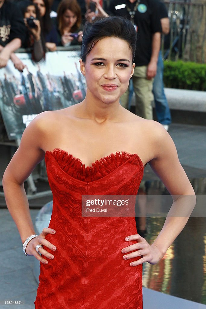 Michelle Rodriguez attends The UK Film Premiere of The Fast And The Furious 6 at The Empire Cinema on May 7, 2013 in London, England.