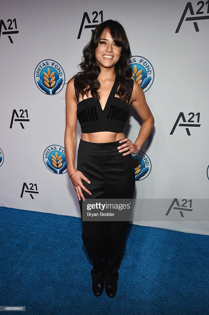 Michelle Rodriguez attends the Unitas gala against Sex Trafficking at Capitale on September 15 2015 in New York City