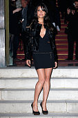 Michelle Rodriguez attends the Versace show as part of Paris Fashion Week Haute Couture Spring/Summer 2015 on January 25 2015 in Paris France