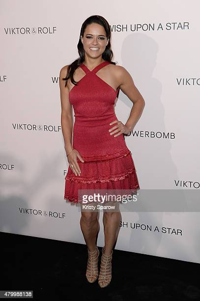 Michelle Rodriguez attends the Viktor Rolf FlowerBomb Fragrance 10th Anniversary Party as part of Paris Fashion Week Haute Couture Fall/Winter...
