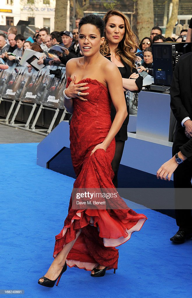 Michelle Rodriguez attends the World Premiere of 'Fast & Furious 6' at Empire Leicester Square on May 7, 2013 in London, England.