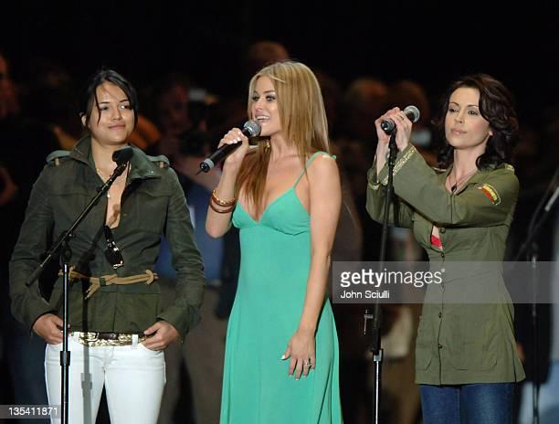 Michelle Rodriguez Carmen Electra and Alyssa Milano