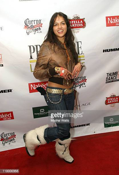 Michelle Rodriguez during 2005 Park City The Salon Party at Premiere Lounge in Park City Utah United States