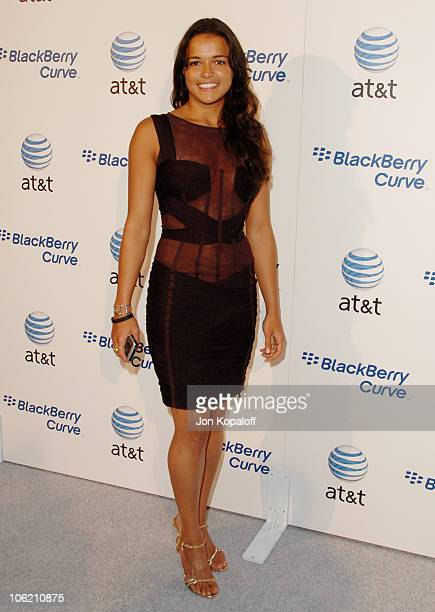 Michelle Rodriguez during Launch Party for the new BlackBerry Curve from ATT Arrivals at Beverly Wilshire Hotel in Beverly Hills California United...